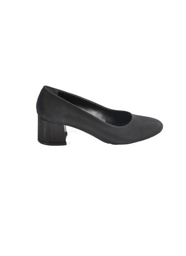 Maje 5001 Platin Kadın Topuklu Ayakkabı Siyah